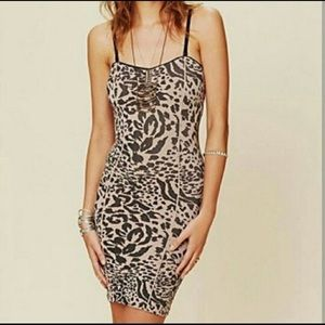 Free People Intimately Cheetah Bodycon dress